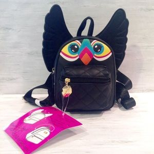 Luv Betsey® Tucan Backpack Black Retractable Wings